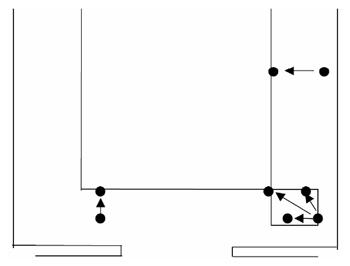Minigolf ball repositioning