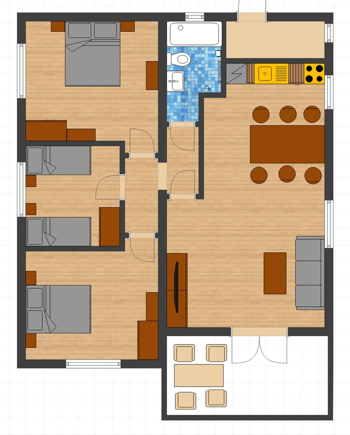 Floor Plan - Villa Rosa in Bryastovets, Bulgaria for rent
