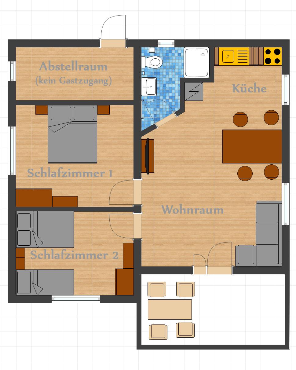 Grundriss - Villa Diana