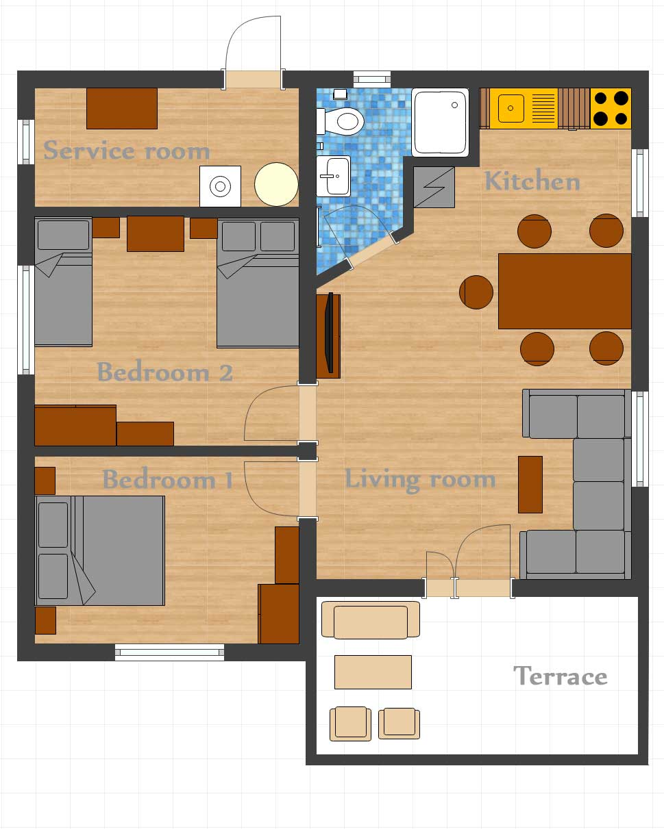 Floor Plan - Villa Diana