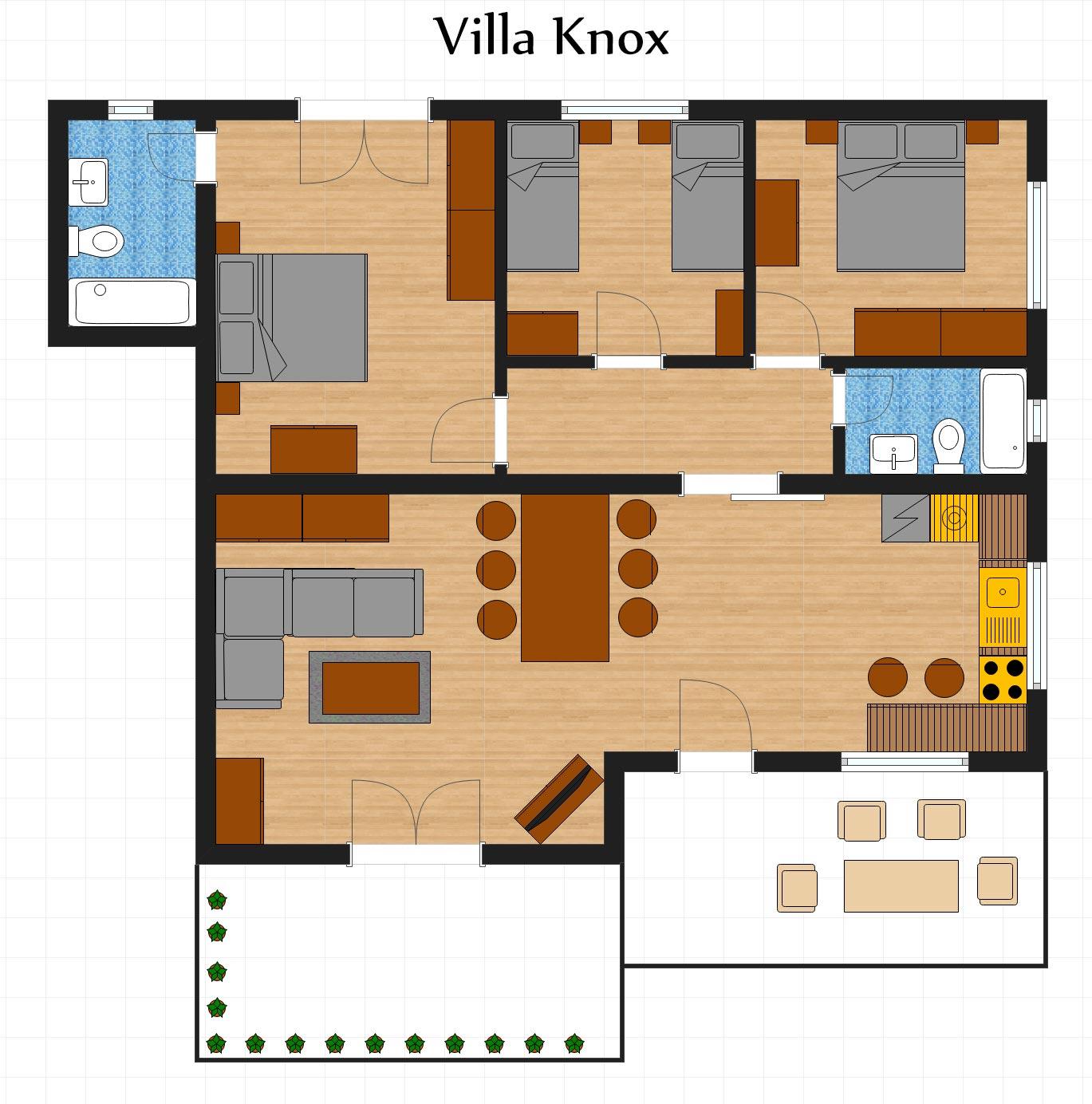 Floor Plan - Villa Knox