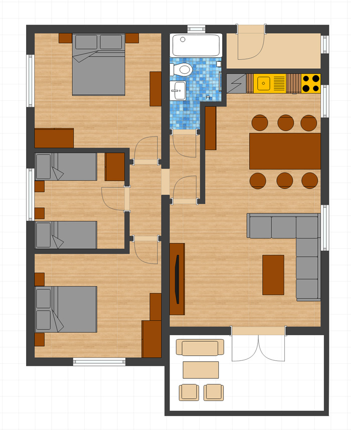 Floor Plan - Villa Rosa