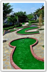 Miniature golf, minigolf