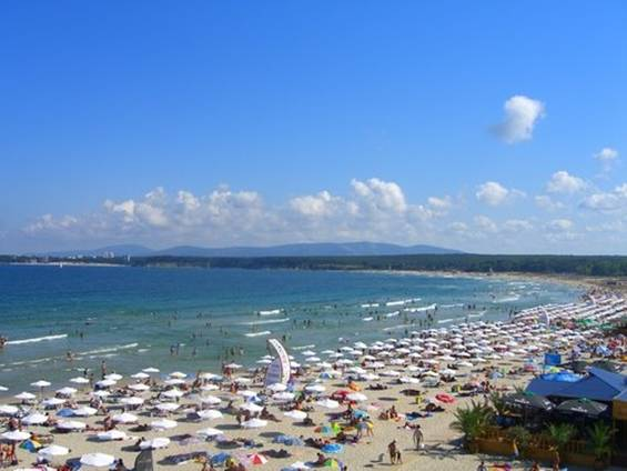 The Central Beach of Primorsko