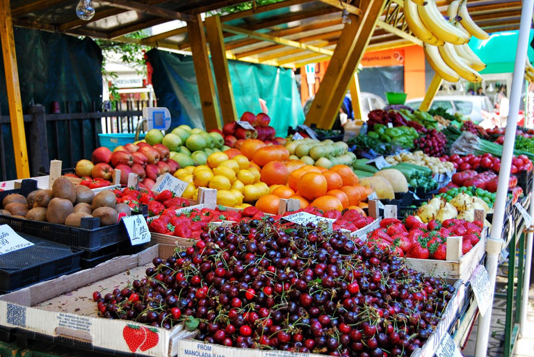 Bulgarian local fruit market