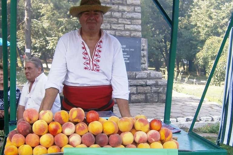Bulgarian roadside fruit market