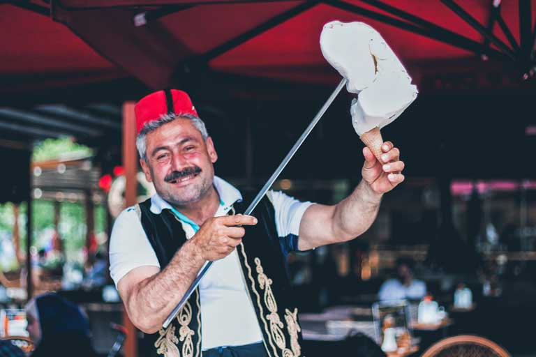 Turkish ice cream show