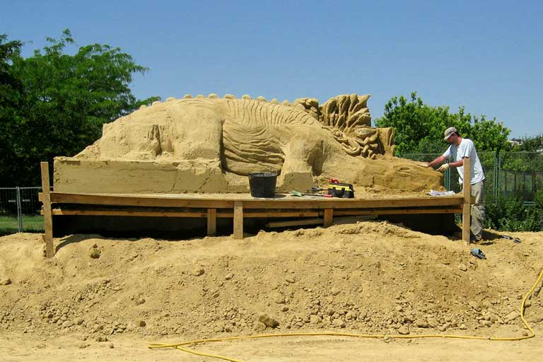 Burgas sand sculptures festival