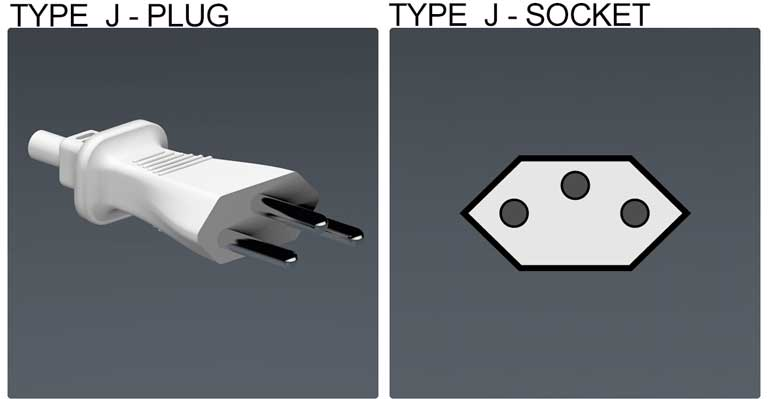 Type J socket & plug, holiday in Bulgaria