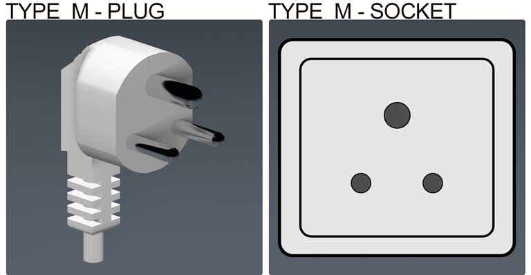 Type M socket & plug, holiday in Bulgaria