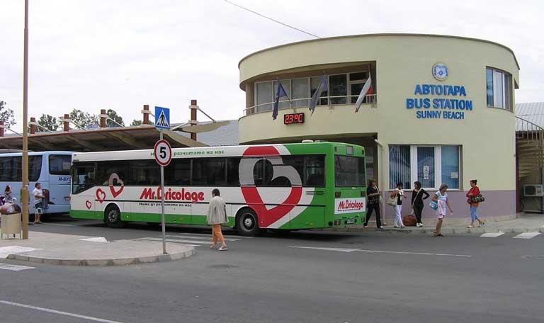Central bus station sunny beach