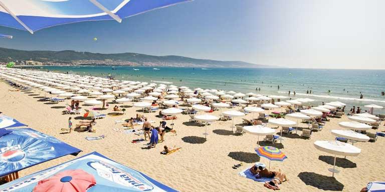 Beach of Sunny Beach, Bulgaria