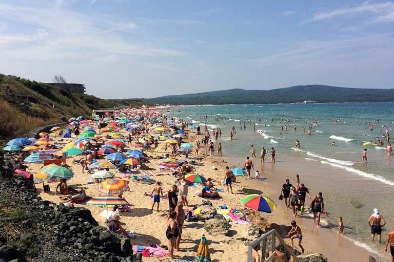 Primorsko central beach, Bulgaria