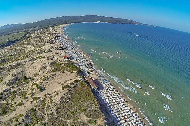 Primorsko north beach, Bulgaria