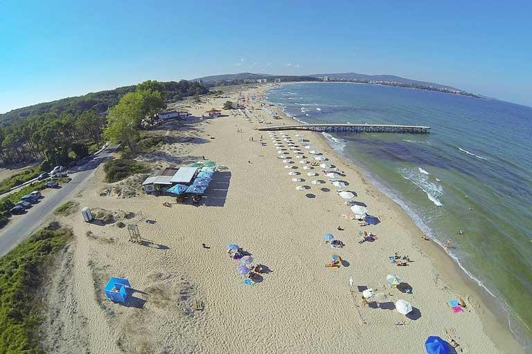 Primorsko south beach, Bulgaria