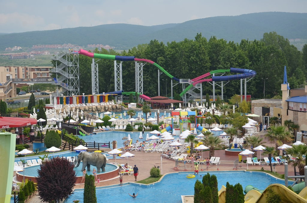 View of Action aqua park Sunny beach