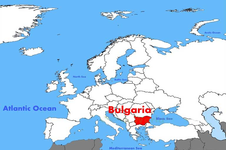 Bulgarian location on the european map