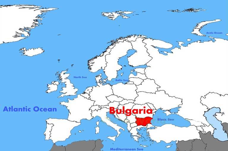 Bulgarian location on the european map