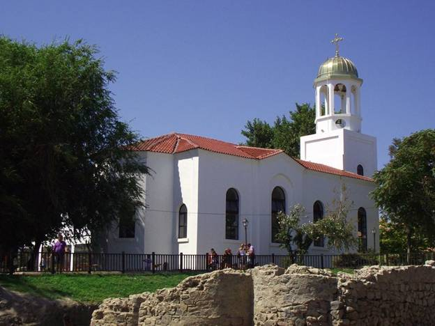 The temple of St. Cyril and St. Methodius in  Sozopol