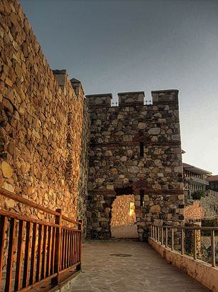 The fortified walls and towers